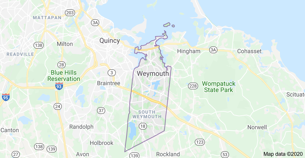 South Shore Roofing Pros - Weymouth Map
