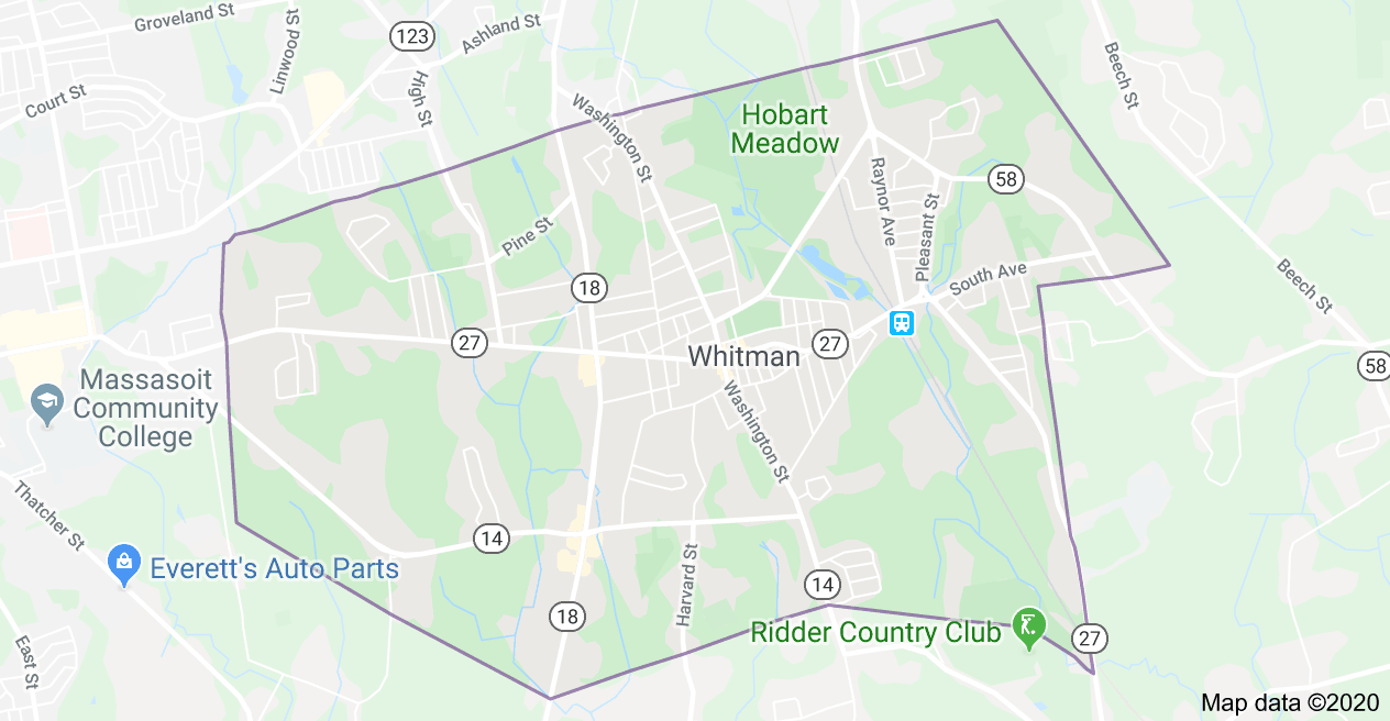 South Shore Roofing Pros - Whitman Map